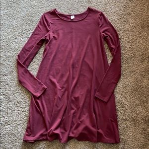 Old Navy Long Sleeve Shift Dress